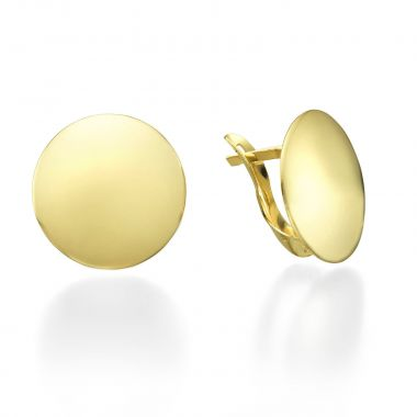 Yellow Gold Hoop Earrings - Orb