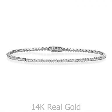 Diamond Tennis Bracelet in 14K White Gold - Elizabeth