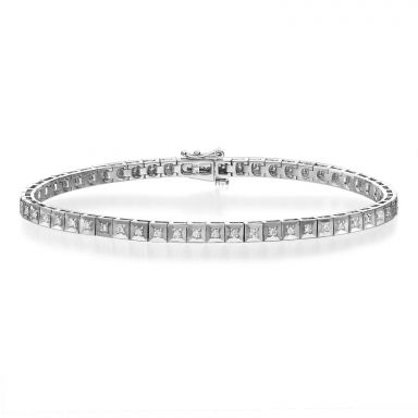 Diamond Tennis Bracelet in 14K White Gold - Jennifer