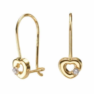 Dangle Earrings in14K Yellow Gold - Heart of Mazzy