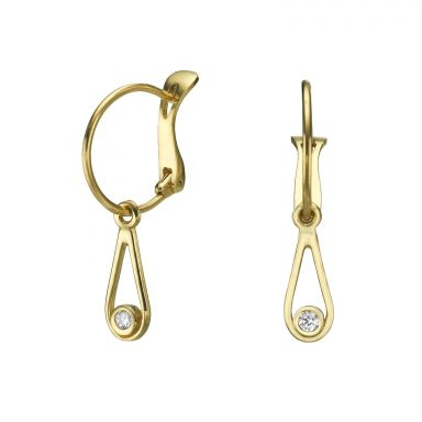 Hoop Earrings in14K Yellow Gold - Drop of Mittal