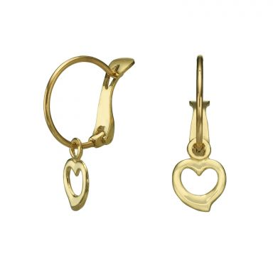 Hoop Earrings in14K Yellow Gold - Heart of Michaela