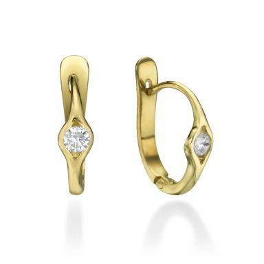 Dangle Tight Earrings in14K Yellow Gold - Ellipse of Light