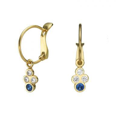 Hoop Earrings in14K Yellow Gold - Circles of Sophia
