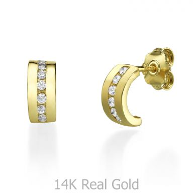 14K Yellow Gold Teen's Stud Earrings - Madison