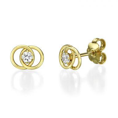 14K Yellow Gold Teen's Stud Earrings - United