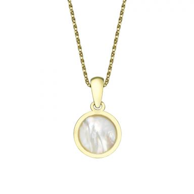 Pendant and Necklace in Yellow Gold - Golden Pearl