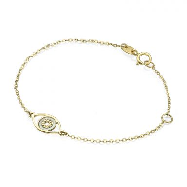 14K Gold Girls' Bracelet - Lucky Eye