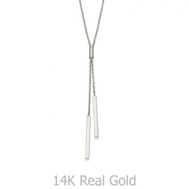 Pendant and Necklace in 14K White Gold - Light Beam