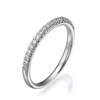 Diamond Band Ring in 14K White Gold - Ice Princess