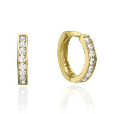 Huggie Gold Earrings - Prague