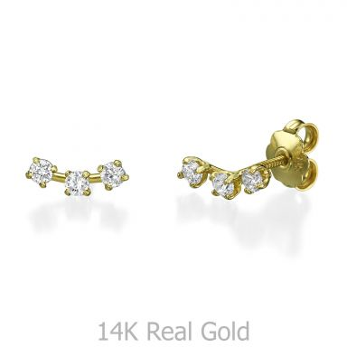 Stud Earring in Yellow Gold - Spotlights