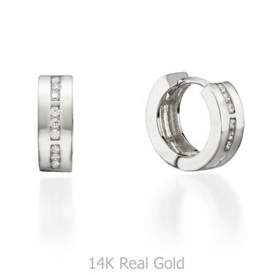 White Gold Hoop Earrings -Kansas