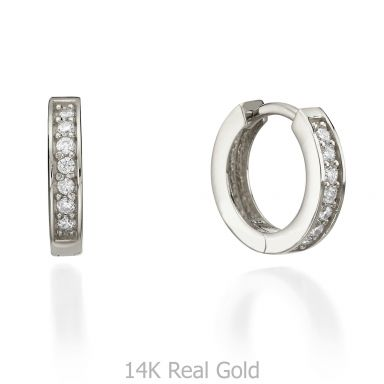 White Gold Hoop Earrings - Montana