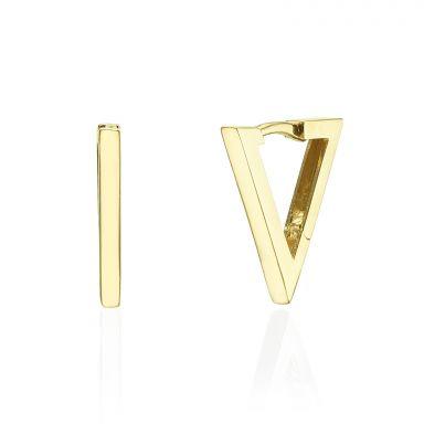 Huggie Earrings in 14K Yellow Gold - Golden Triangle