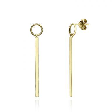 Drop and Dangle Earrings in 14K Yellow Gold - Pendulum