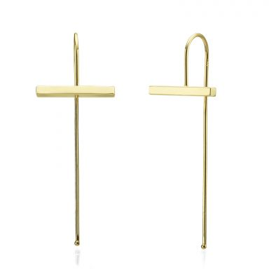 Drop and Dangle Earrings in 14K Yellow Gold - Eva