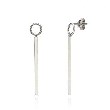 14K White Gold Women's Earrings - Pendulum