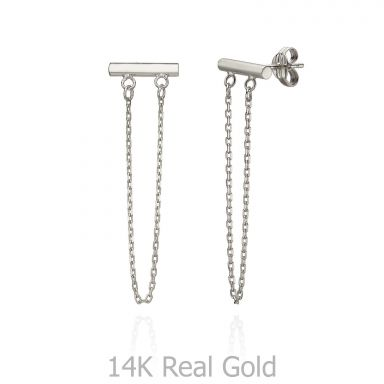 Drop and Dangle Earrings in 14K White Gold - Golden Reins