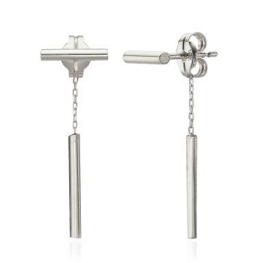 14K White Gold Women's Earrings - Ropes of Gold