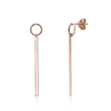 Drop and Dangle Earrings in 14K Rose Gold - Pendulum