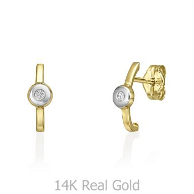 Stud Earrings in 14K Yellow Gold - Adele