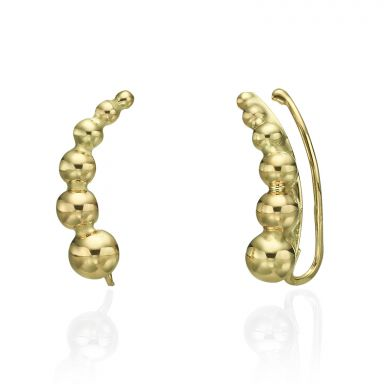 Climbing Earrings in 14K Yellow Gold - Andromeda