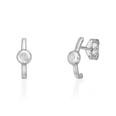 Stud Earrings in 14K White Gold - Adele