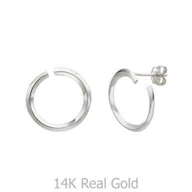 14K White Gold Women's Earrings - Sunrise