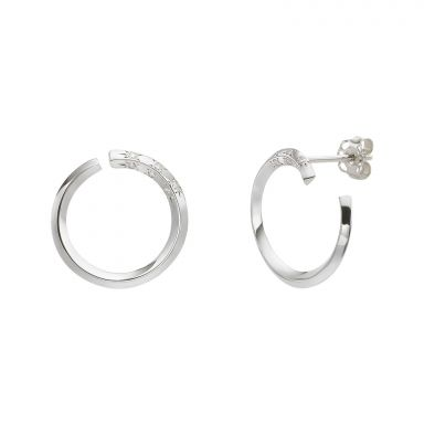 Diamond Stud Earrings in 14K White Gold - Sunrise