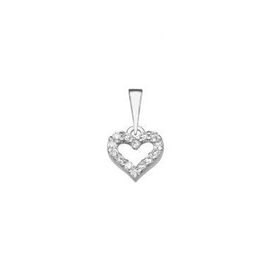 White Gold Pendant - Heart of Splendor