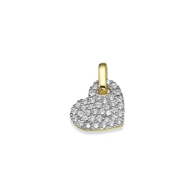 Pendant in Yellow Gold - Sparkling Heart