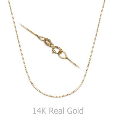 "14K Yellow Gold Venice Chain Necklace 0.53mm Thick, 15.74"" Length"