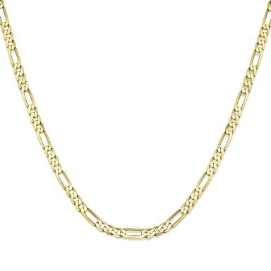 "14K Yellow Gold Chain for Men Figaro 3.84mm Thick, 21.6"" Length"