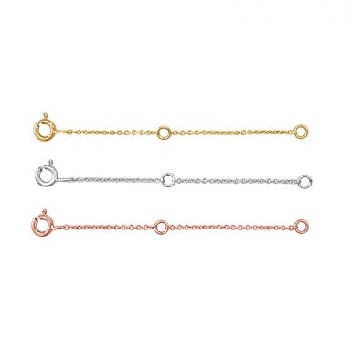 14K White Gold Extension Chain - 6cm (2.4 inch)