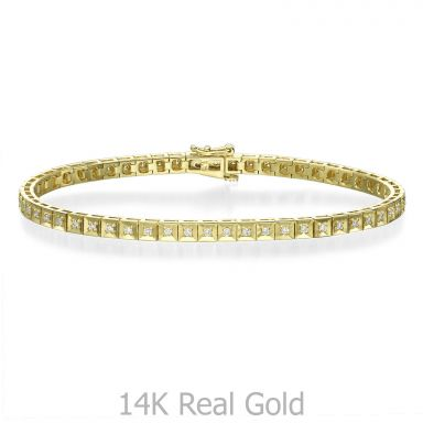 Diamond Tennis Bracelet in 14K Yellow Gold - Jennifer