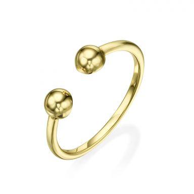 14K Yellow Gold Rings - Golden Circles