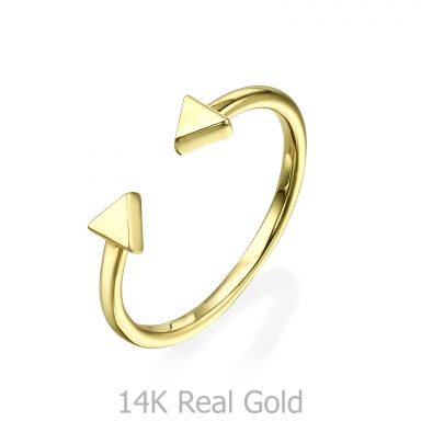 14K Yellow Gold Rings - Triangles