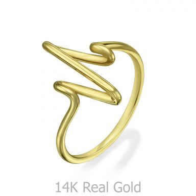 Ring in 14K Yellow Gold - Cardiogram