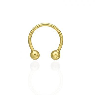 Helix / Septum Piercing in 14K Yellow Gold