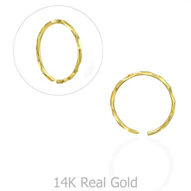 Helix / Tragus Piercing in 14K Yellow Gold - Large