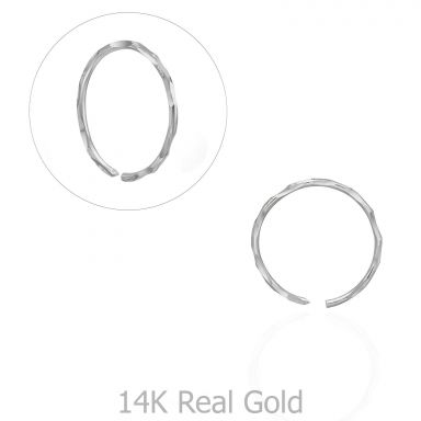 Helix / Tragus Piercing in 14K White Gold - Small