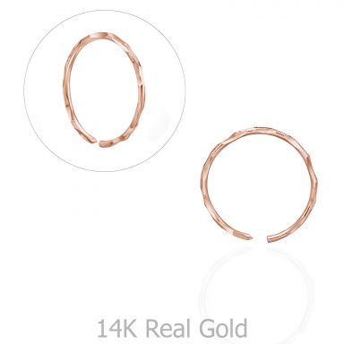 Helix / Tragus Piercing in 14K Rose Gold - Large