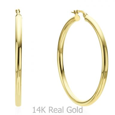 Hoop Earrings in 14K Yellow Gold - XL