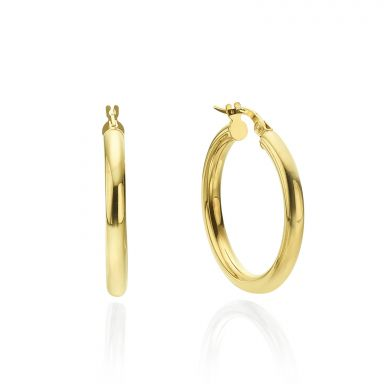 Hoop Earrings in 14K Yellow Gold - M (thin)