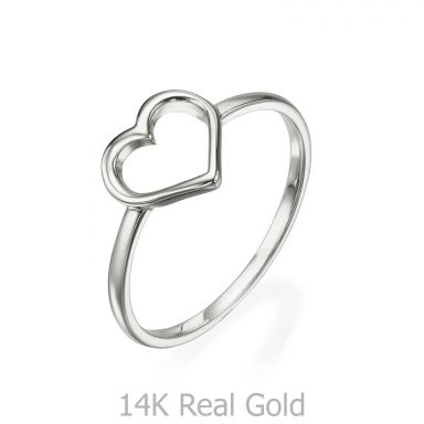 Ring in 14K White Gold - Heart
