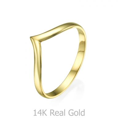 Ring in 14K Yellow Gold - Delicate V