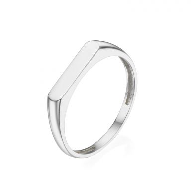 Ring in 14K White Gold - Signet