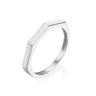 Ring in 14K White Gold - Geometric