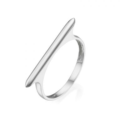 Ring in 14K White Gold - Line